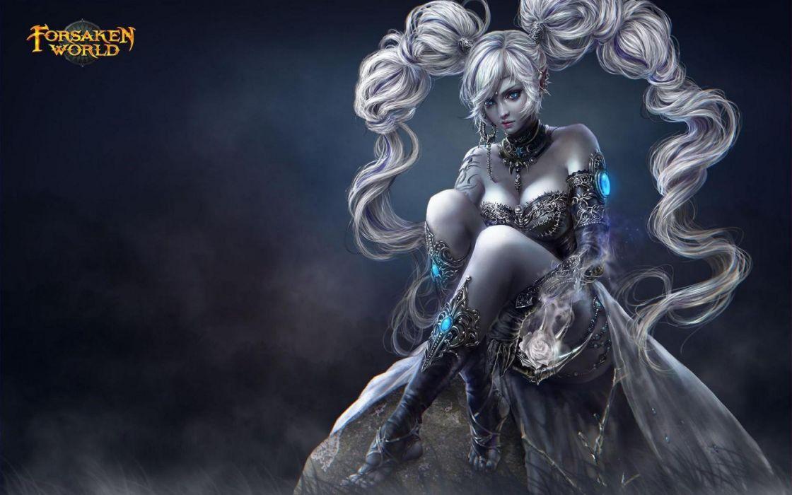 FORSAKEN WORLD Shenmo Online fantasy mmo rpg perfect 1fwso action fighting adventure dark age warrior vampire perfect detail girl girls artwork wallpaper