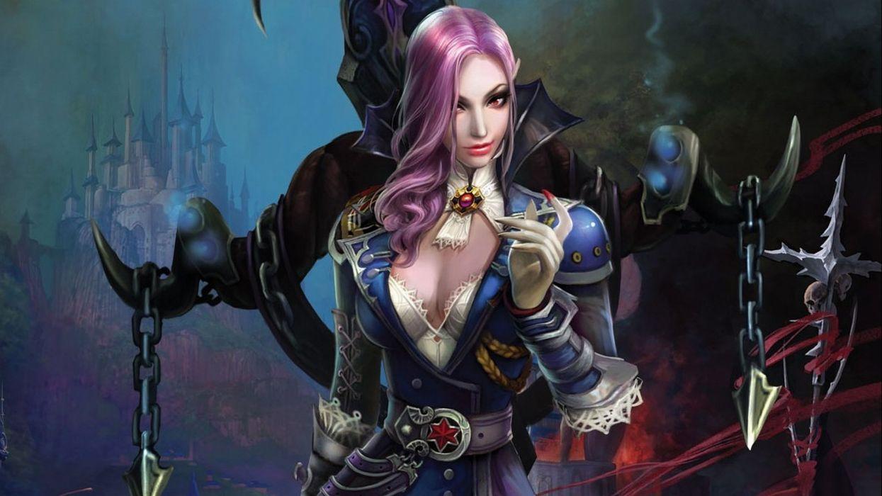 FORSAKEN WORLD Shenmo Online fantasy mmo rpg perfect 1fwso action fighting adventure dark age warrior vampire perfect detail girl girls artwork gothic wallpaper