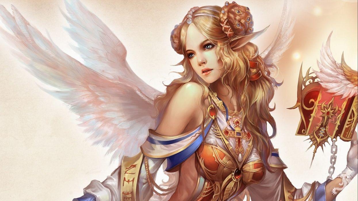 FORSAKEN WORLD Shenmo Online fantasy mmo rpg perfect 1fwso action fighting adventure dark age warrior vampire perfect detail girl girls artwork angel fairy wallpaper