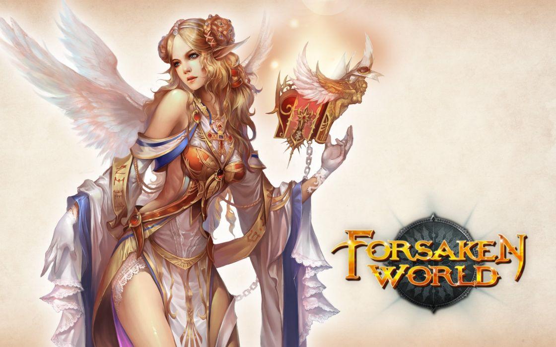 FORSAKEN WORLD Shenmo Online fantasy mmo rpg perfect 1fwso action fighting adventure dark age warrior vampire perfect detail girl girls artwork poster fairy angel wallpaper