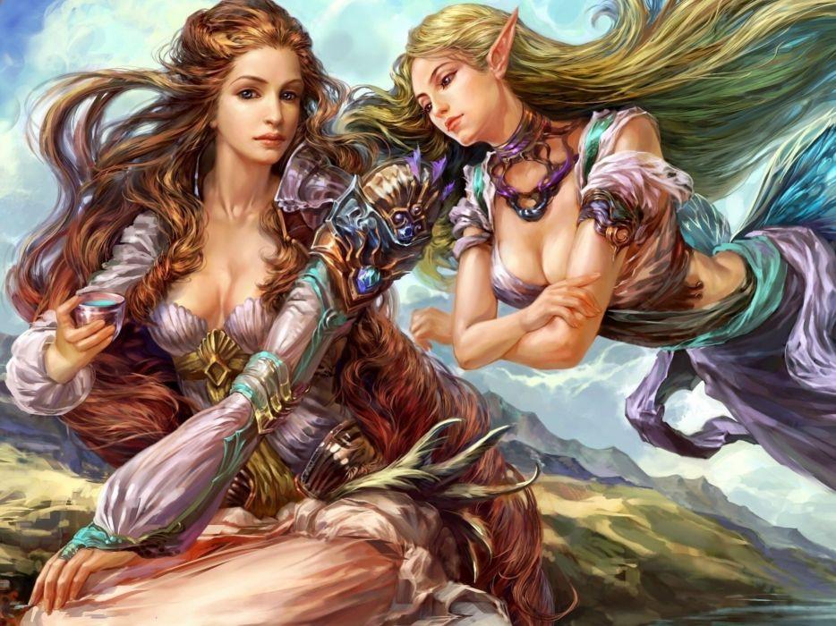FORSAKEN WORLD Shenmo Online fantasy mmo rpg perfect 1fwso action fighting adventure dark age warrior vampire perfect detail girl girls artwork poster angel fairy wallpaper