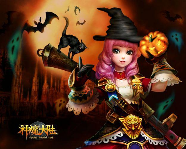 FORSAKEN WORLD Shenmo Online fantasy mmo rpg perfect 1fwso action fighting adventure dark age warrior vampire perfect detail girl girls artwork poster halloween wallpaper