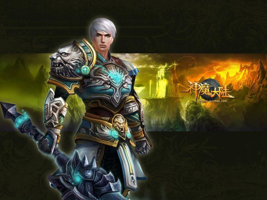 FORSAKEN WORLD Shenmo Online fantasy mmo rpg perfect 1fwso action fighting adventure dark age warrior vampire perfect detail artwork wallpaper
