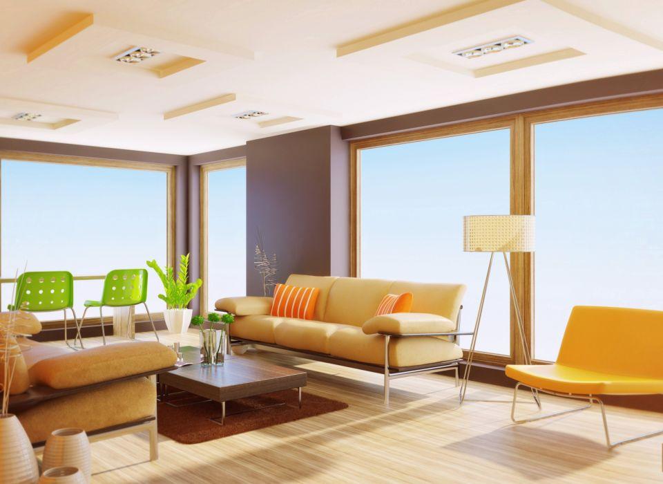 interior ventanales diseño muebles wallpaper