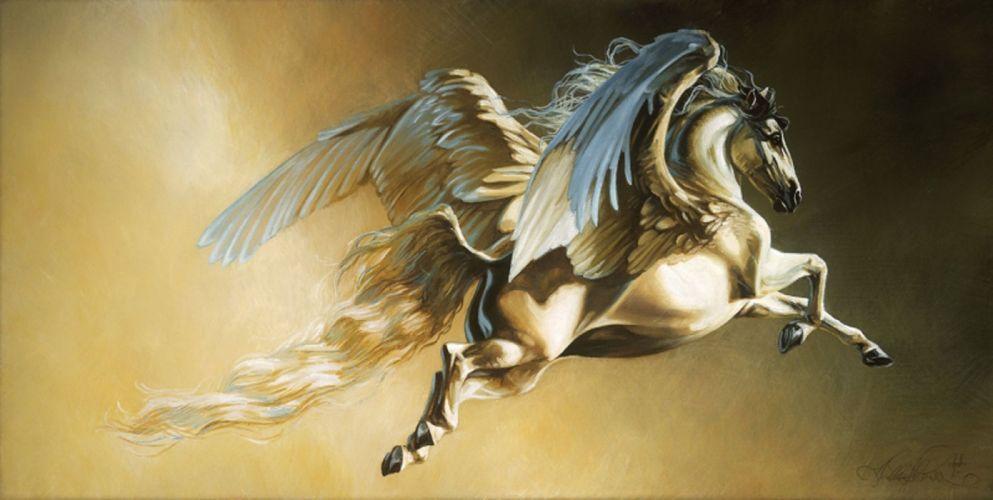 freedom art horse white beautiful animal wings pegasus fantasy fly wallpaper