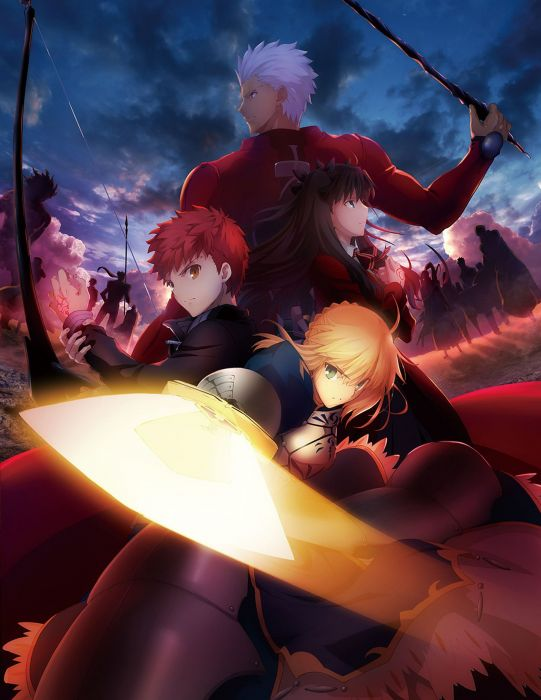 Fate-stay-night-Unlimited-Blade-anime series group characters sword wallpaper