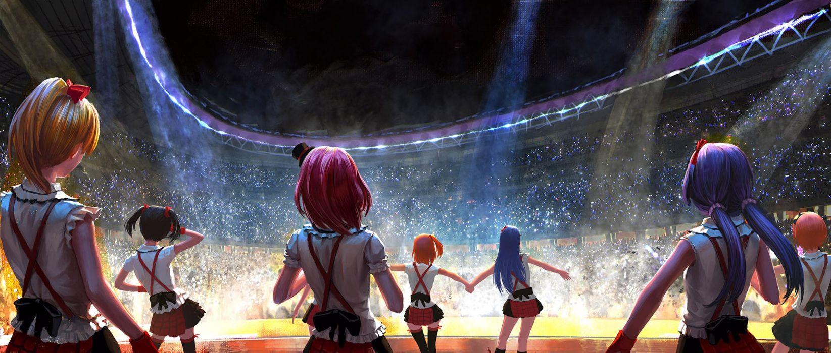 anime series group girls characters love live school idols music wallpaper