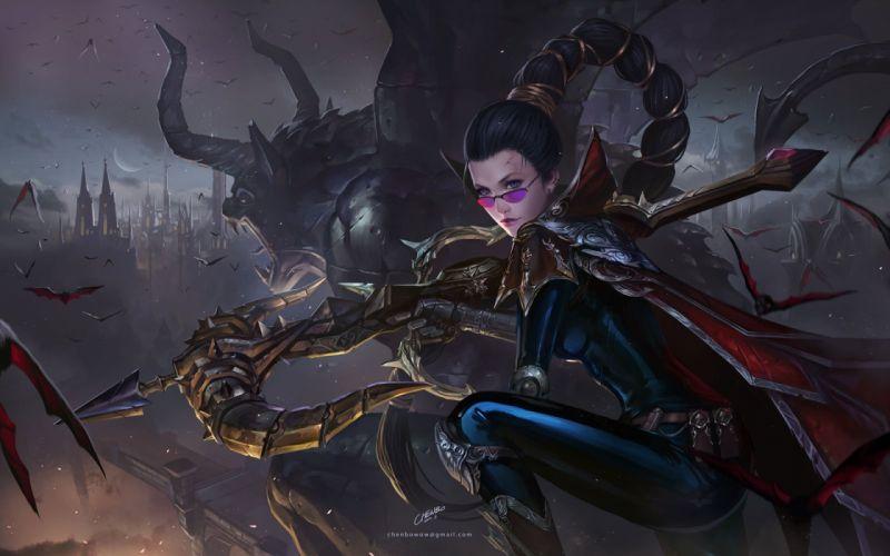 fantays league of legendsgame characters girl monster wallpaper