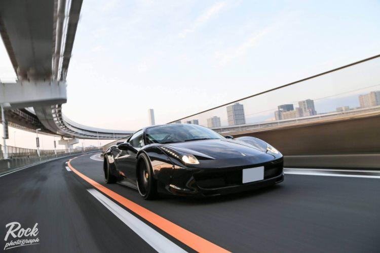 458 body cars Ferrari Italia kit supercars Tuning wallpaper