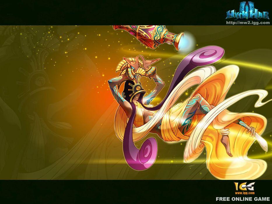 MYTH WAR ONLINE fantasy mmo rpg mythological 1mwo action adventure fighting magic warrior poster wallpaper