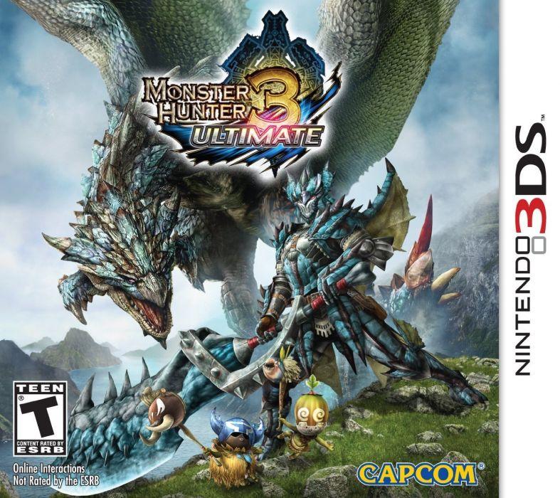 MONSTER HUNTER online mmo rpg fantasy hunting 1mhf action dragon fighting anime warrior dinosaur wallpaper