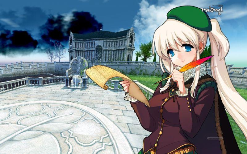 MABINOGI anime mmo rpg online fantasy adventure world action fighting elf elves 1mabin wallpaper