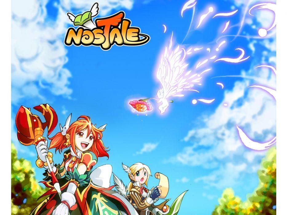 NOSTALE ONLINE anime mmo rpg fantasy adventure 1nosto action fighting exploration wallpaper
