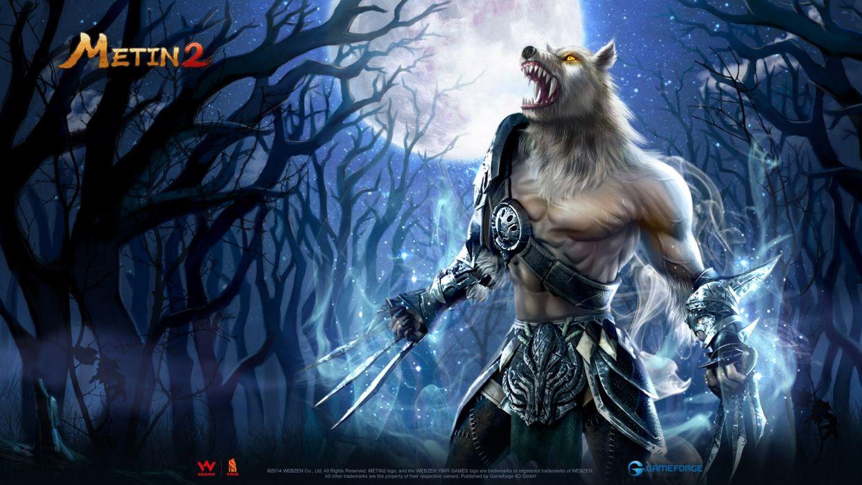 METIN 2 asian fantasy mmo rpg action fighting magic samurai warrior online 1metin ninja anime poster werewolf lycan dark horror wallpaper