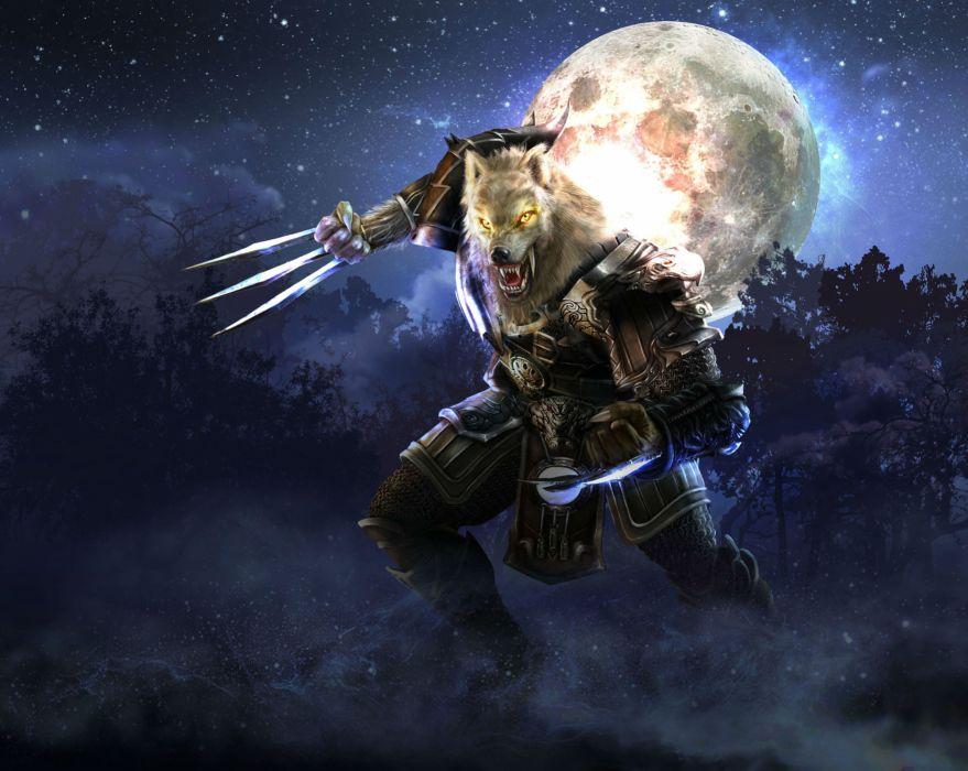 METIN 2 asian fantasy mmo rpg action fighting magic samurai warrior online 1metin ninja anime poster werewolf lycan monster moon wallpaper