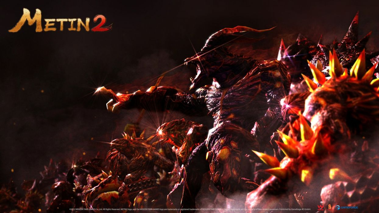 METIN 2 asian fantasy mmo rpg action fighting magic samurai warrior online 1metin ninja anime poster werewolf lycan monster wallpaper