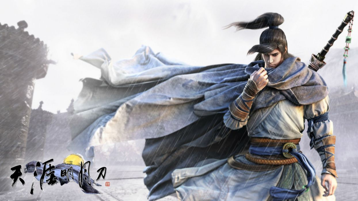 MOONLIGHT BLADE online asian fantasy mmo rpg action fighting adventure perfect kung 1moonb sword katana samurai warrior detail tencent poster wallpaper