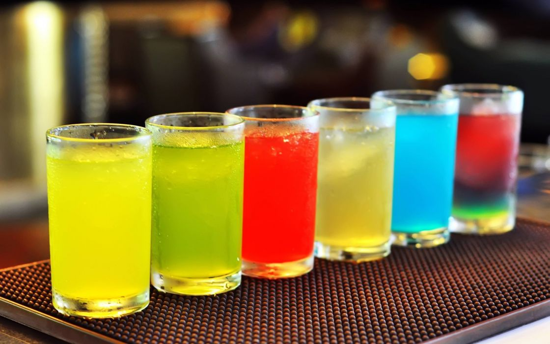 Cold drinks colorfu cocktails wallpaper