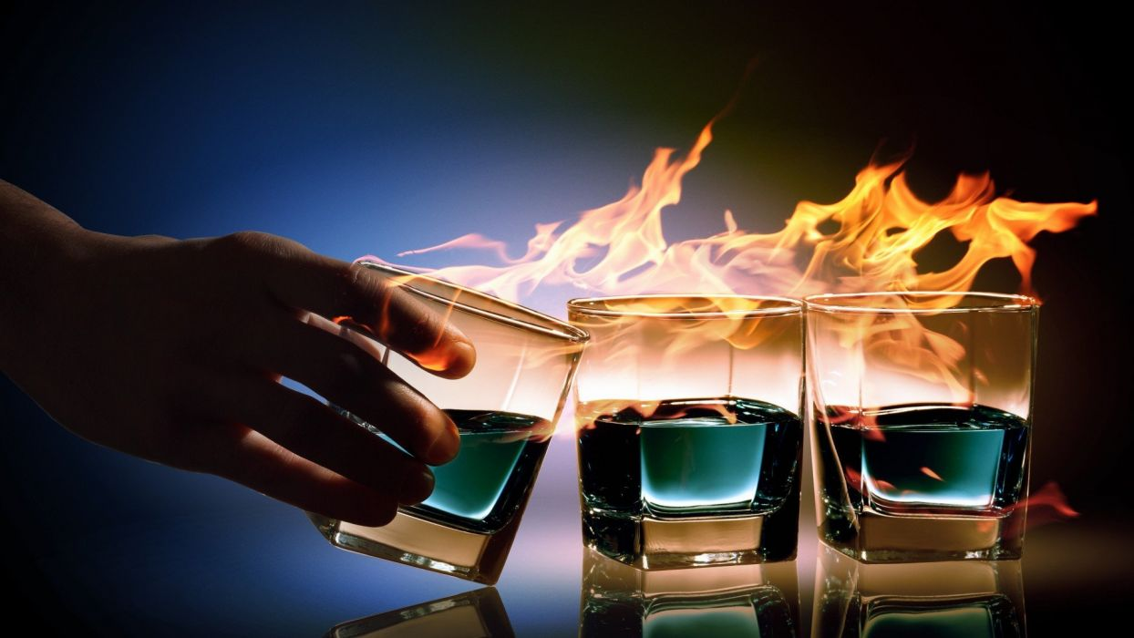 flame drink wallpaper