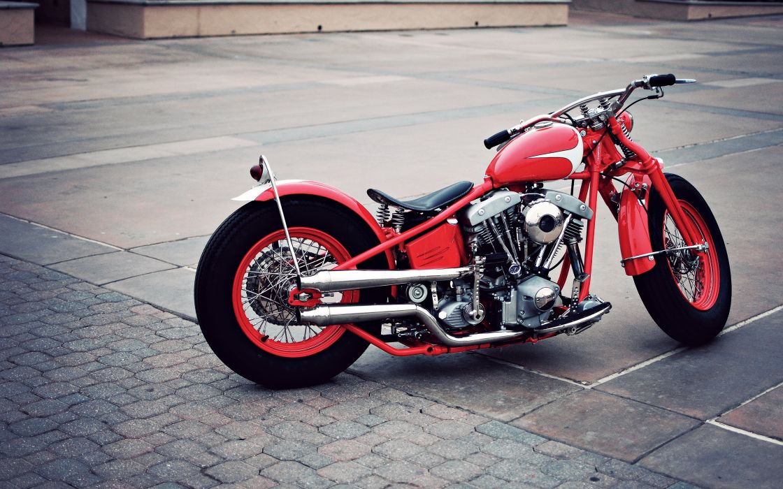 Bike Classic Fog Harley Davidson Motorcycle Motorcyclist Old