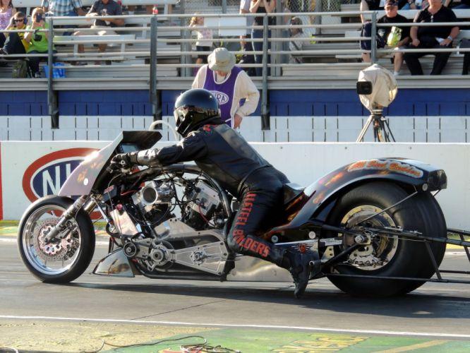 NHRA drag racing race hot rod rods dragster motorcycle motorbike bike f wallpaper