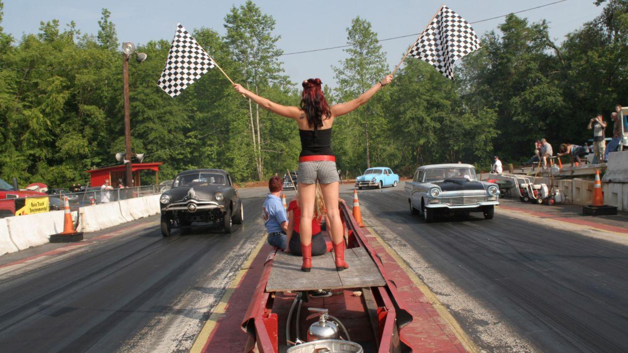 NHRA drag racing race hot rod rods sexy babe girl girls cheerleader f wallpaper