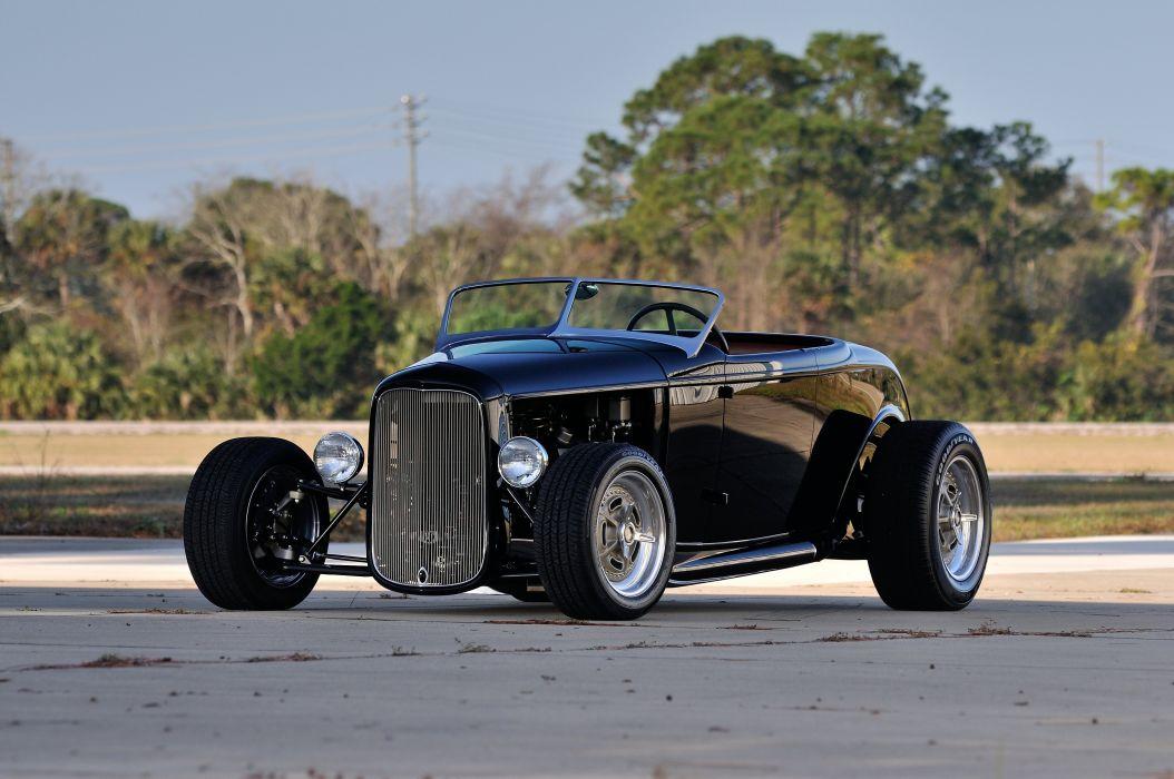 1932 Ford HiBoy Roadster Hotrod Hot Rod Streetrod Street USA 4200x2790-06 wallpaper