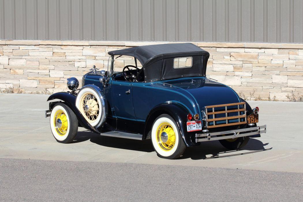 1930 Ford ModelA Roadster Classic USA 4200x2800-03 wallpaper