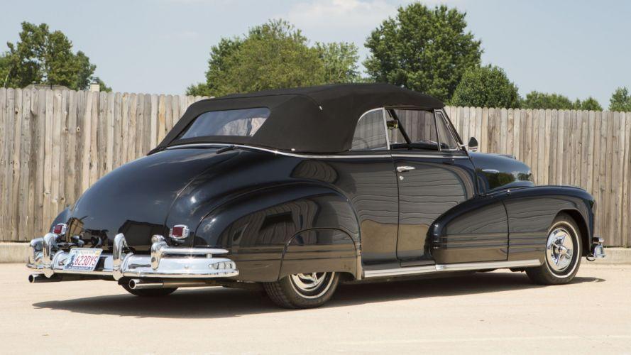 1947 Pontiac Eight Convertible Custom Hotrod Hot Rod Streetrod Street USA 4100x2300-014 wallpaper