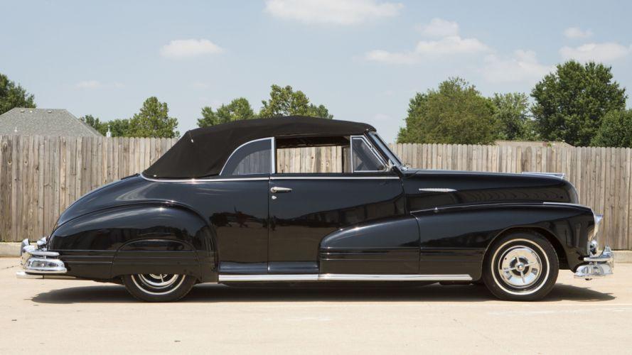 1947 Pontiac Eight Convertible Custom Hotrod Hot Rod Streetrod Street USA 4100x2300-012 wallpaper