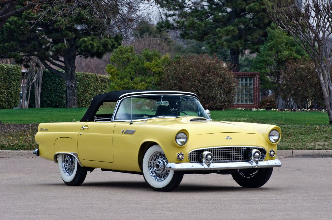 1955 Ford Thunderbird Convertible Muscle Classic USA 4200x2780 03 Wallpaper