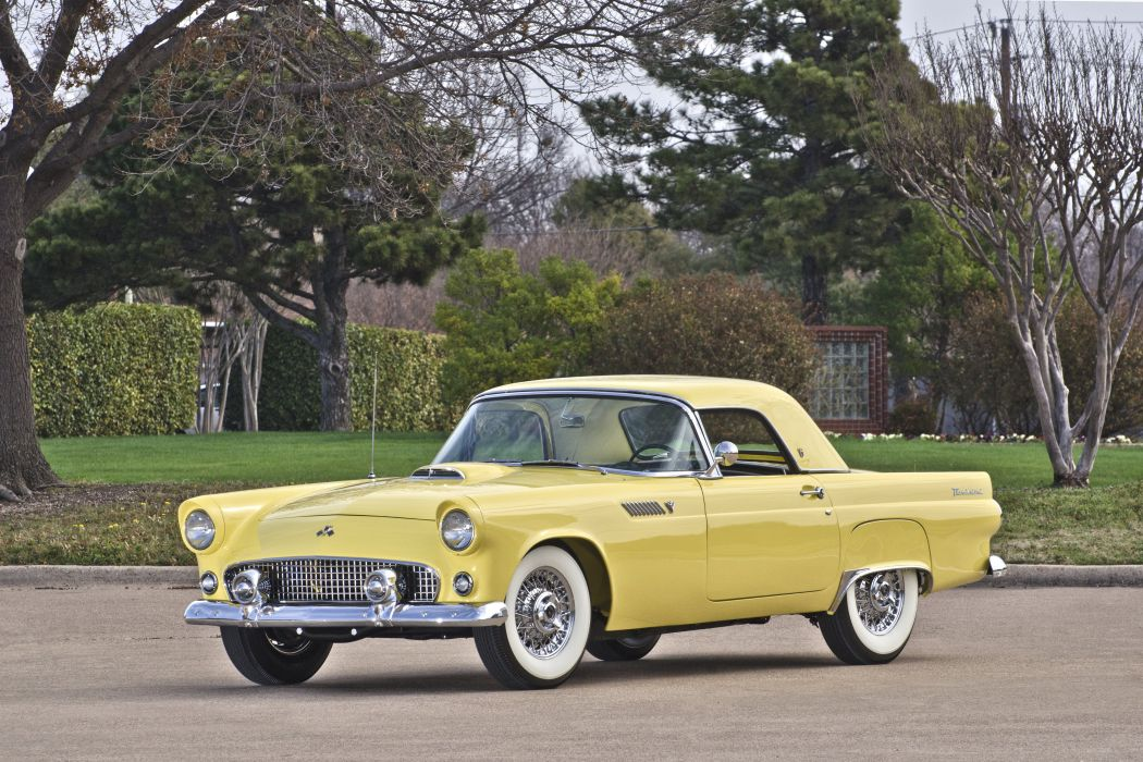 1955 Ford Thunderbird Convertible Muscle Classic USA 4200x2800-01 wallpaper