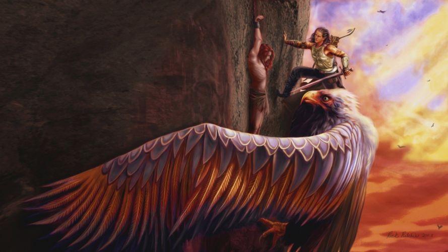 ART - fantasy elves artwork wings wallpaper