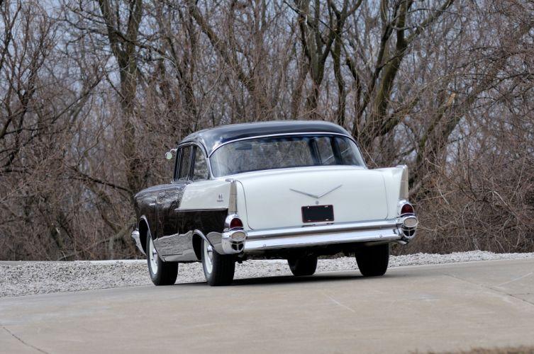 1957 Chevrolet 150 Sedan Muscle Classic USA 4200x2780-05 wallpaper