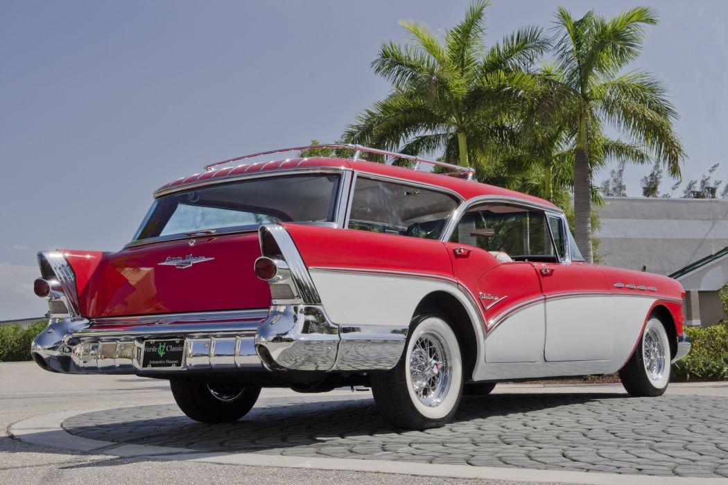 1957 Buick Caballero Wagon Classic USA 4200x2800-06 wallpaper