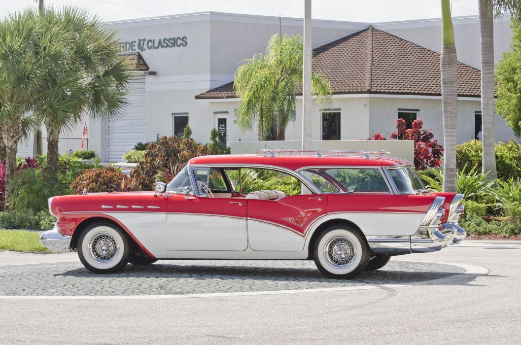 1957 Buick Caballero Wagon Classic USA 4200x2800-05 wallpaper