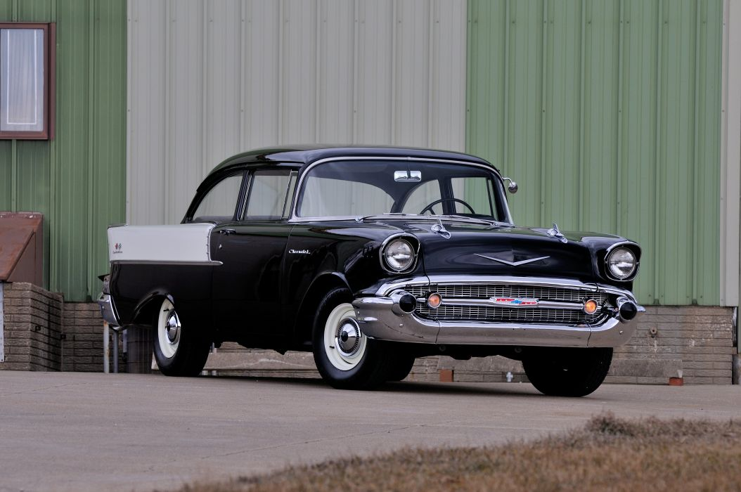 1957 Chevrolet 150 Sedan Muscle Classic USA 4200x2780-04 wallpaper
