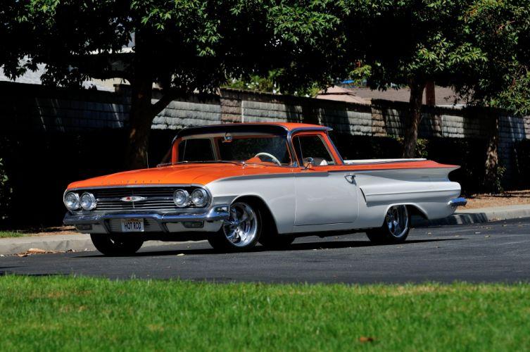 1960 Chevrolet Chevy ElCamino Streetrod Street Rod Hot Custom USA 4200x2790-01 wallpaper