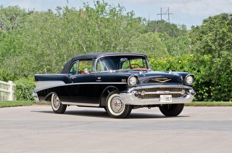 1957 Chevrolet BelAir Convertible Classic USA 4200x2780-01 wallpaper