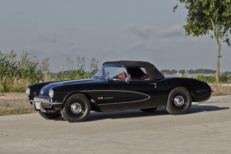1957 Chevrolet Corvette Convertible Airbox Muscle Classic USA 4200x2800-03 wallpaper