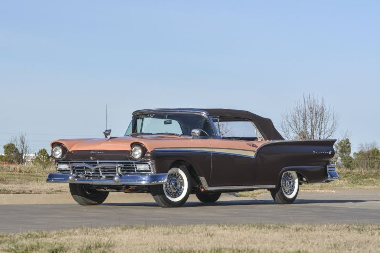 1957 Ford Fairlane 500 Convertible Classic USA 4200x2800-01 wallpaper