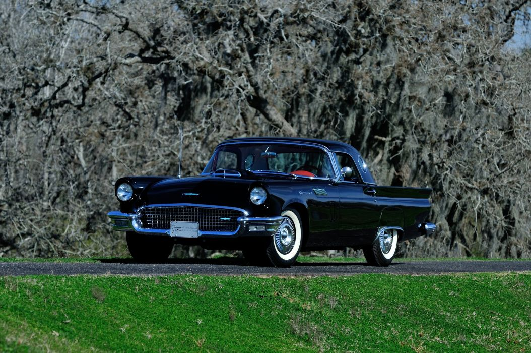 1957 Ford Thunderbird Convertible Classic USA 4200x2800-01 wallpaper