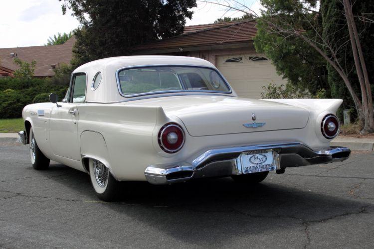 1957 Ford Thunderbird Vonvertible Classic USA 4200x2800-02 wallpaper