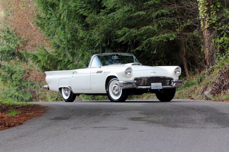 1957 Ford Thunderbird Vonvertible Classic USA 4200x2800-05 wallpaper