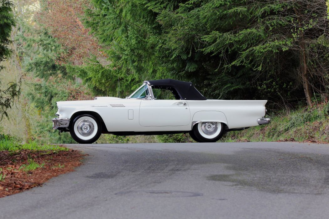 1957 Ford Thunderbird Vonvertible Classic USA 4200x2800-06 wallpaper