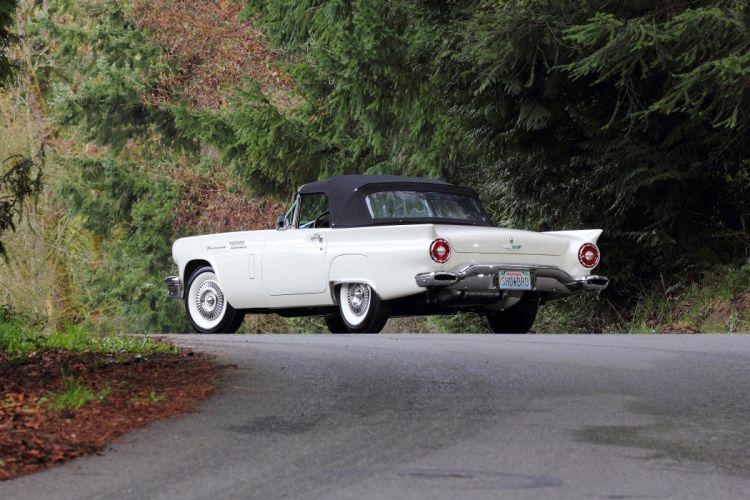 1957 Ford Thunderbird Vonvertible Classic USA 4200x2800-07 wallpaper