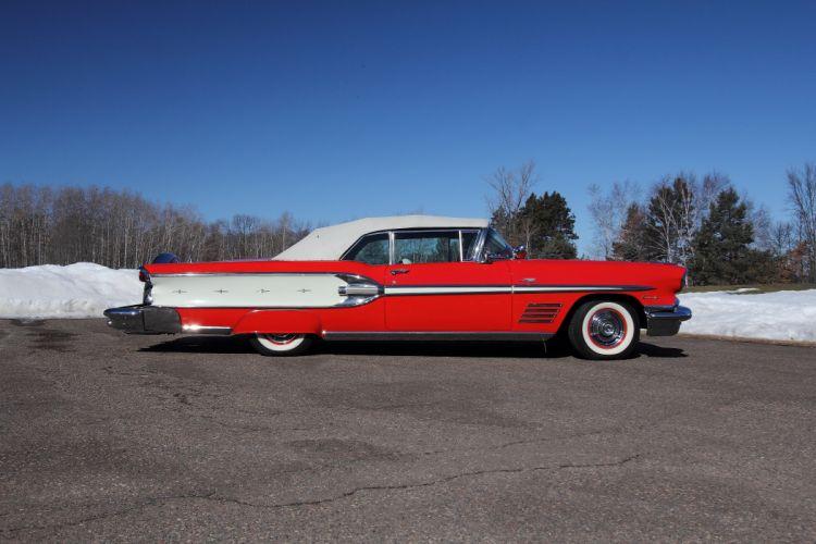 1958 Pontiac Bonneville Convertible Classic USA 4200x2800-03 wallpaper