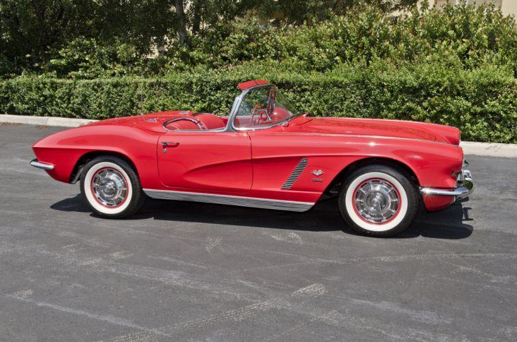 1962 Chevrolet Corvette Convertible Muscle Classic USA 4200x2780-04 wallpaper