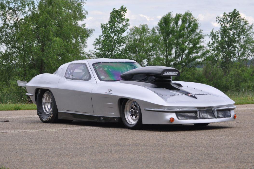 1963 Chevrolet Corvette Drag Racer Funny Car Dragster Drag Race USA 4200x2790-02 wallpaper