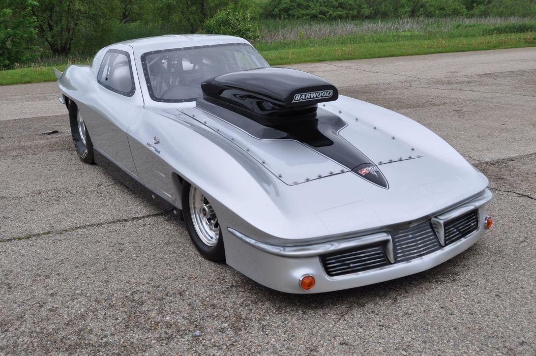 1963 Chevrolet Corvette Drag Racer Funny Car Dragster Drag Race USA 4200x2790-04 wallpaper